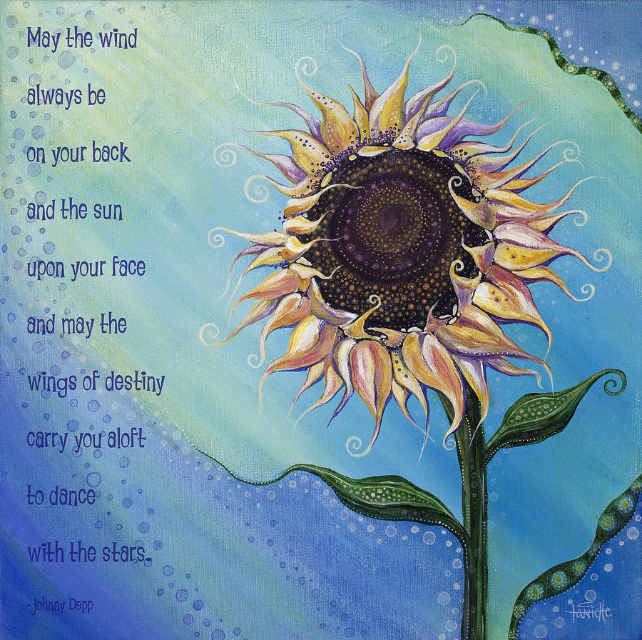 Art With Quote Painting - You Are My Sunshine by Tanielle Childers