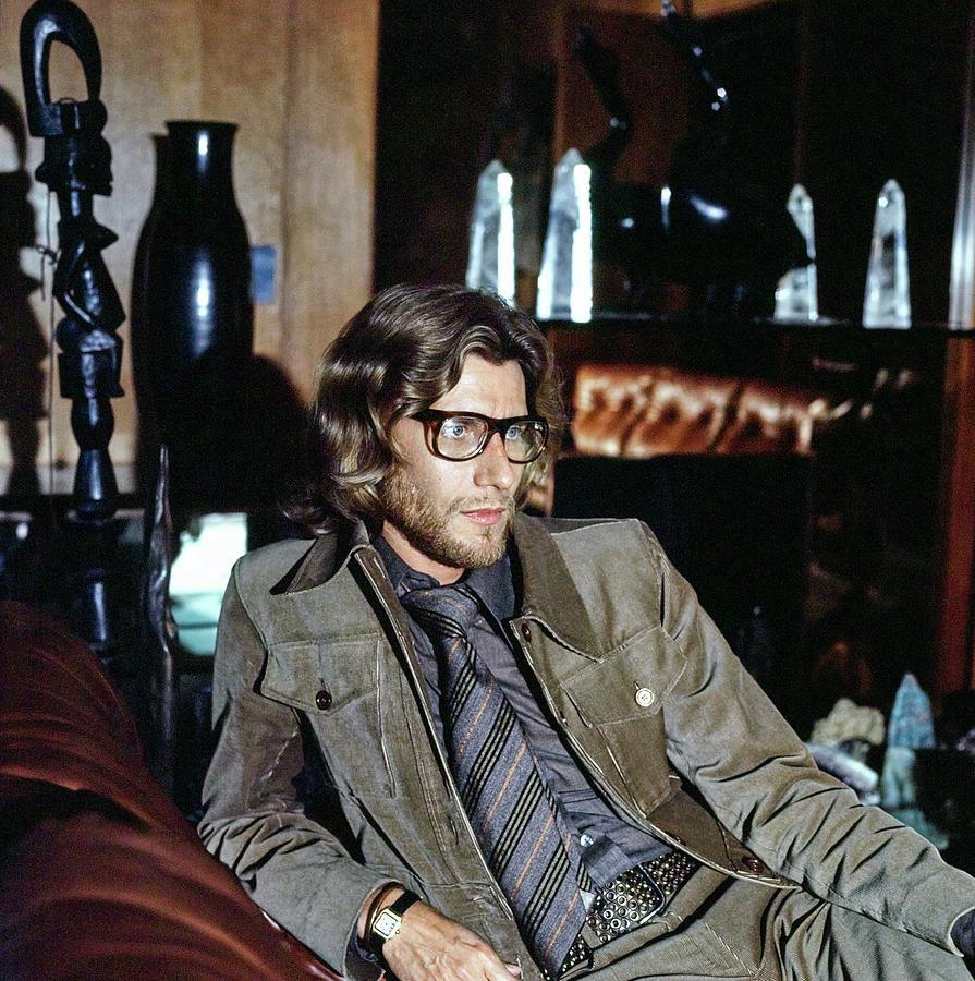 Yves Saint Laurent At Home Photograph by Horst P. Horst