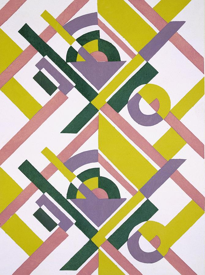 Colourful Painting - Design From Nouvelles Compositions Decoratives by Serge Gladky