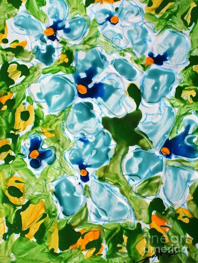 Tranquility Painting - Miyoko Flowers by Baljit Chadha