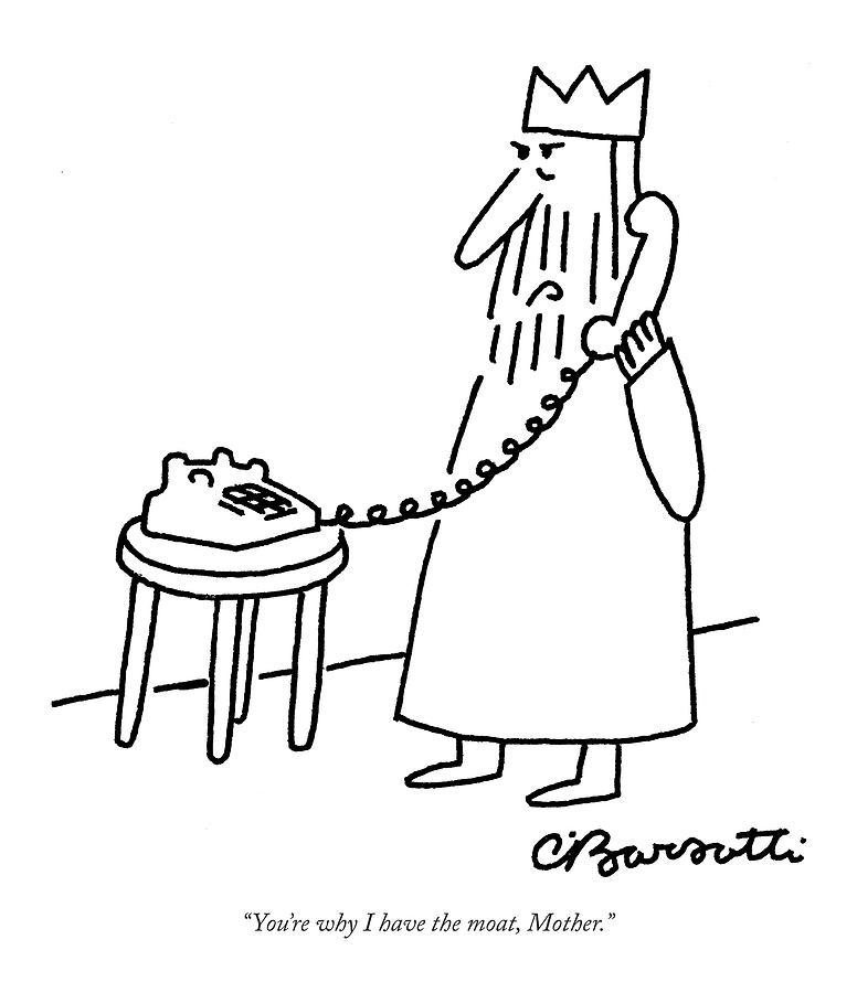 Youre Why I Have The Moat Drawing by Charles Barsotti