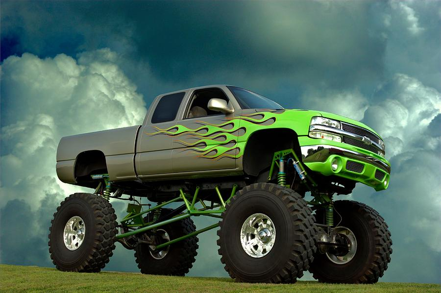 2002 Chevrolet Monster Truck Photograph By Tim Mccullough
