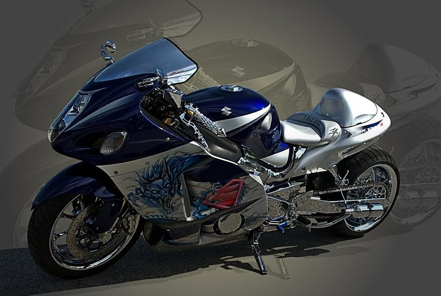 2004 Suzuki Hayabusa Gsx 1300 With Nos Custom Motorcycle