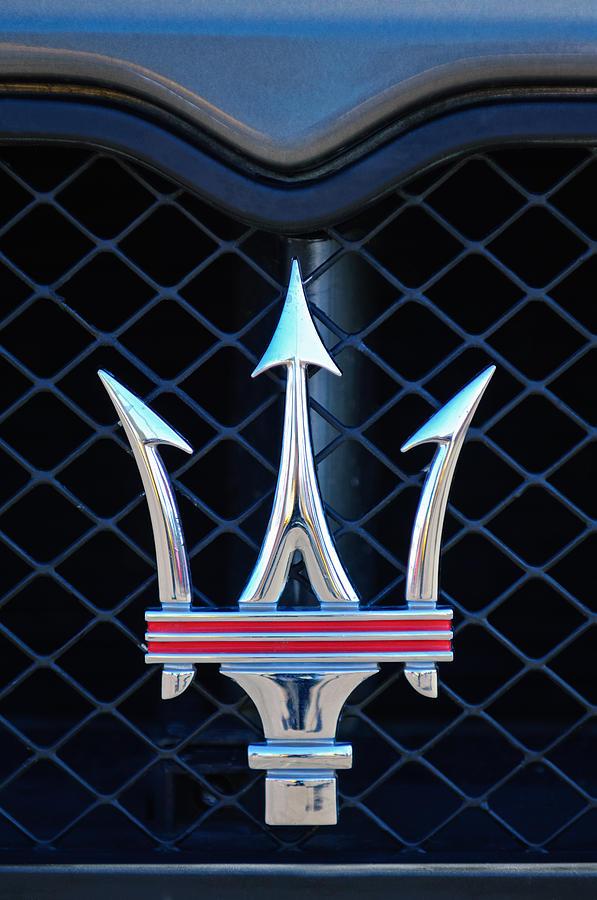 Sports Car Photograph - 2005 Maserati Gt Coupe Corsa Emblem by Jill Reger