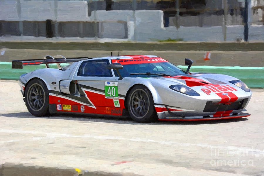 2006 Ford Gt40 Mk7 Race Car Photograph By Tad Gage