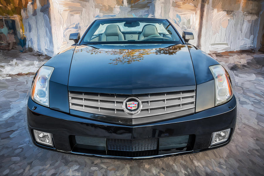2007 Cadillac Xlr Sports Car Painted Photograph By Rich Franco