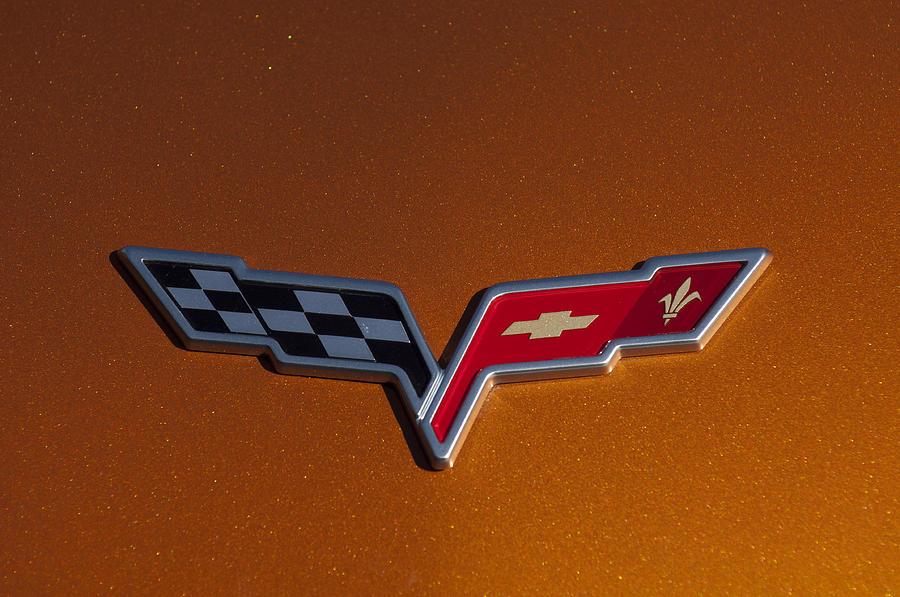 Emblem Photograph - 2007 Chevrolet Corvette Indy Pace Car Emblem by Jill Reger