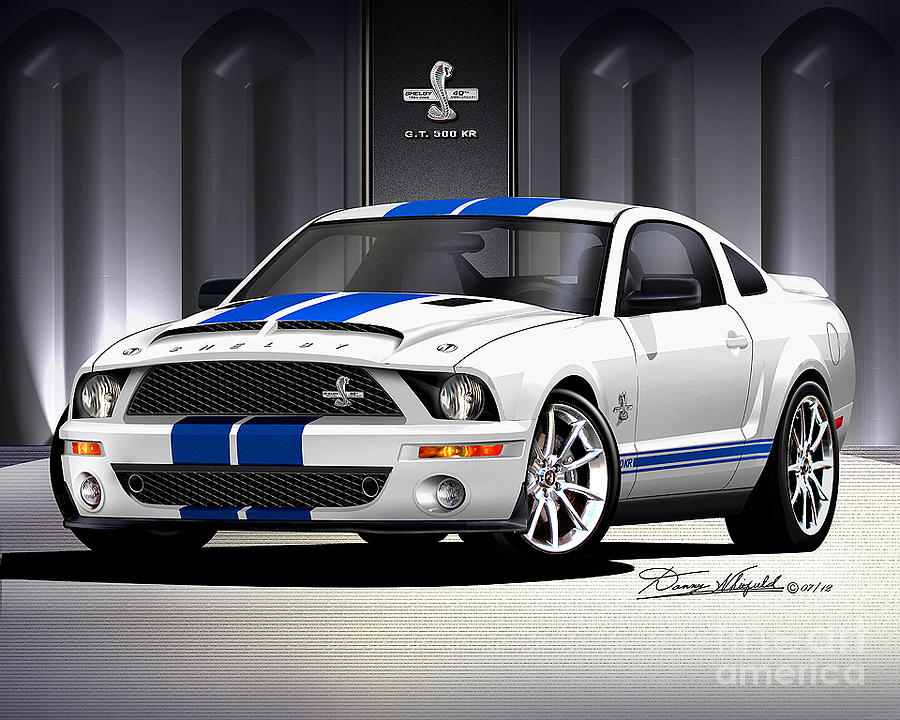 2007 Ford Mustang Shelby Gt500 Drawing - 2007 Ford Shelby Gt500 Kr  by Danny Whitfield