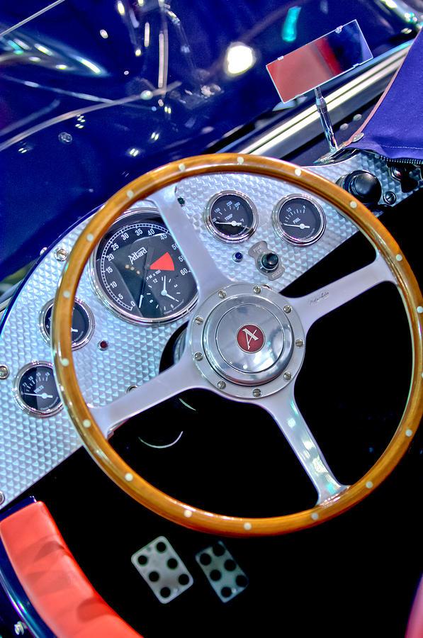 Sports Car Photograph - 2010 Allard J2x Mk II Commemorative Edition Steering Wheel by Jill Reger