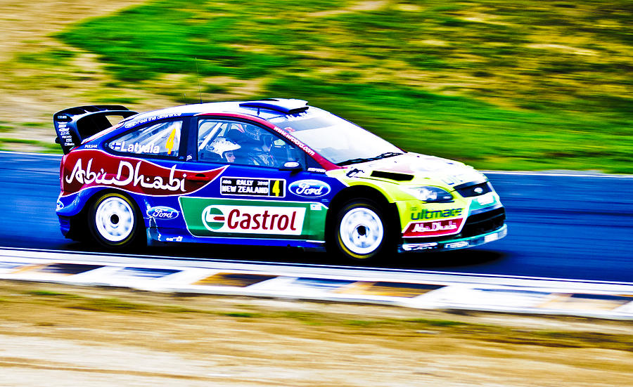2010 Wrc Photograph - 2010 Ford Focus Wrc by motography aka Phil Clark