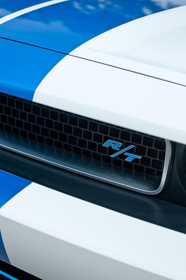 Sports Car Photograph - 2011 Dodge Challenger Rt Grille Emblem by Jill Reger