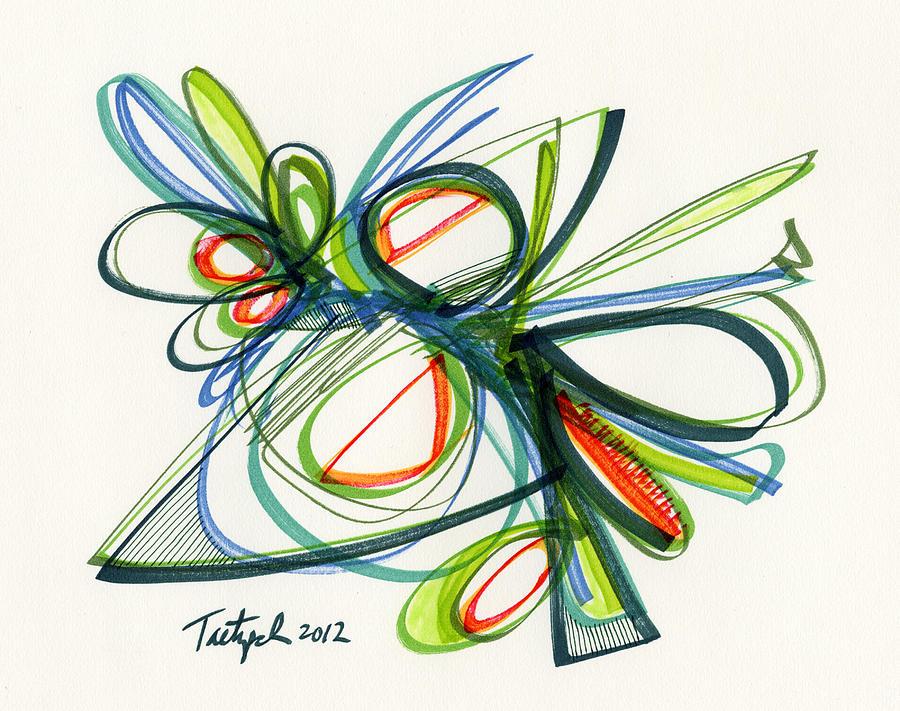 Modern Drawing - 2012 Drawing #35 by Lynne Taetzsch
