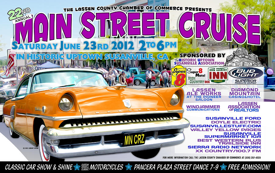 2012 Main Street Cruise Poster Digital Art by The Couso Collection