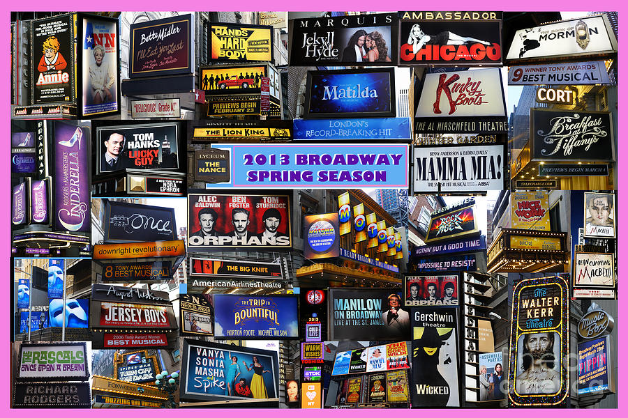 Broadway Digital Art - 2013 Broadway Spring Collage by Steven Spak