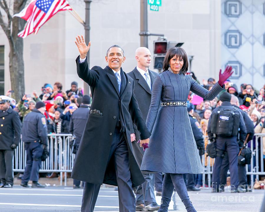 Obama Photograph - 2013 Inaugural Parade by Ava Reaves
