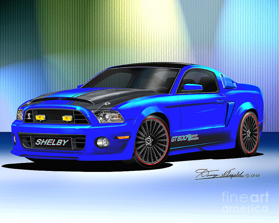 Accessories Drawing - 2013 Mustang Shelby Razorback by Danny Whitfield
