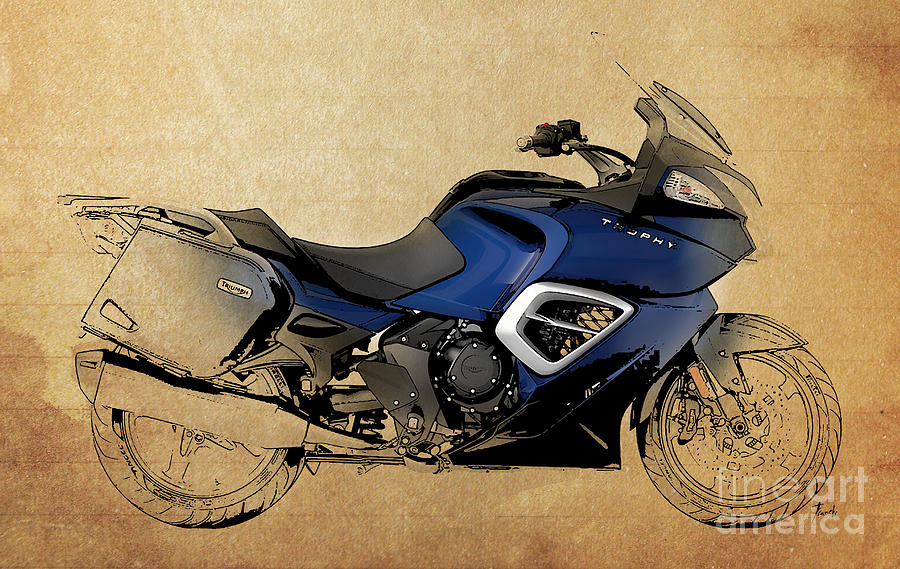 2013 Digital Art - 2013 Triumph Trophy by Drawspots Illustrations