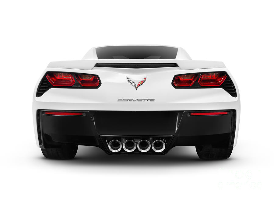 Chevrolet Photograph   2014 Chevrolet Corvette Stingray Sports Car Rear  View By Oleksiy Maksymenko