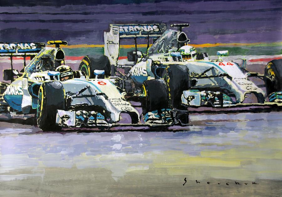 2014 F1 Mercedes Amg Petronas Lewis Hamilton Vs Nico