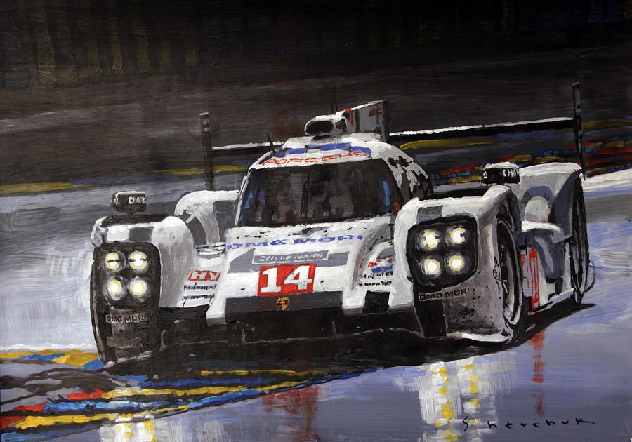 2014 Le Mans 24 Porsche 919 Hybrid Painting By Yuriy Shevchuk
