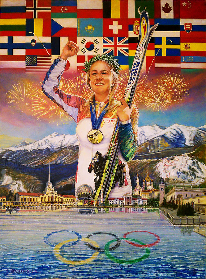 2014 Painting - 2014 Sochi Winter Olympics by Sean OConnor
