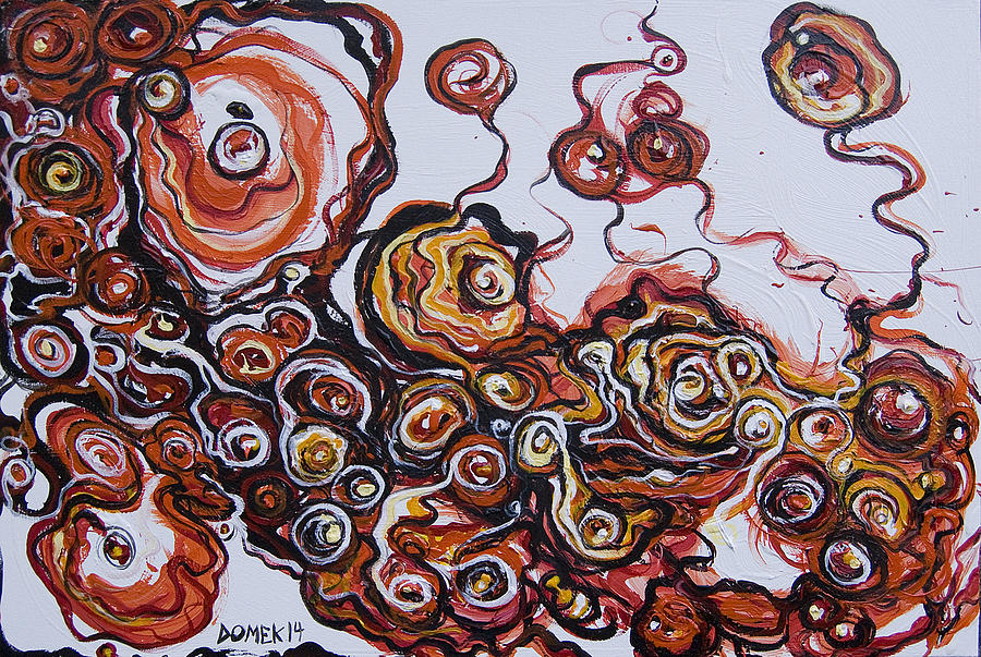 Acrylic Painting - 2014_viper Trails by Ted Domek