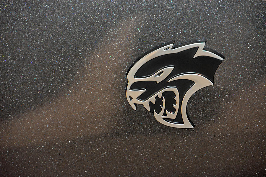 2015 Dodge Challenger Srt Hellcat Emblem Photograph By Mike Martin