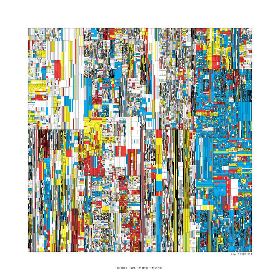 Pi Digital Art - 20244 Digits Of Pi by Martin Krzywinski