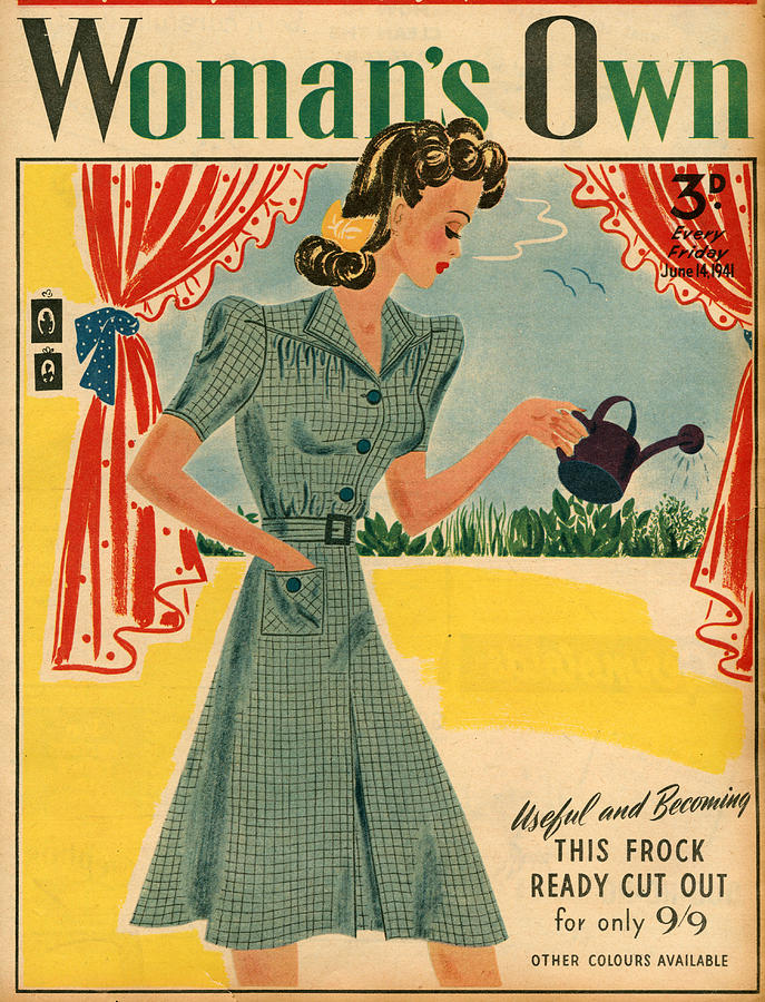 Magazine Cover Photograph - 1940s Uk Womans Own Magazine Cover by The Advertising Archives