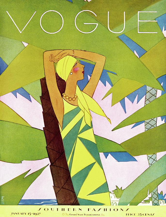 A Vintage Vogue Magazine Cover Of A Woman Photograph by Eduardo Garcia Benito