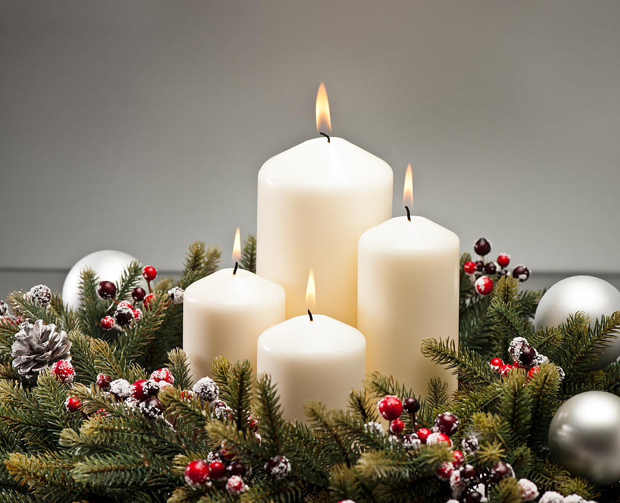 Cone Photograph - Advent Wreath by U Schade