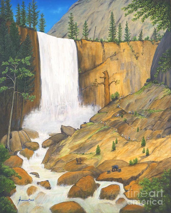 Bears Painting - 21 Bears Of Yosemite National Park by Jerome Stumphauzer