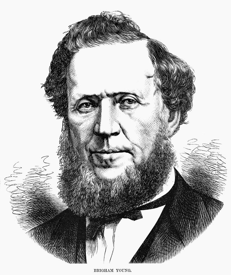 1872 Painting - Brigham Young (1801-1877) by Granger