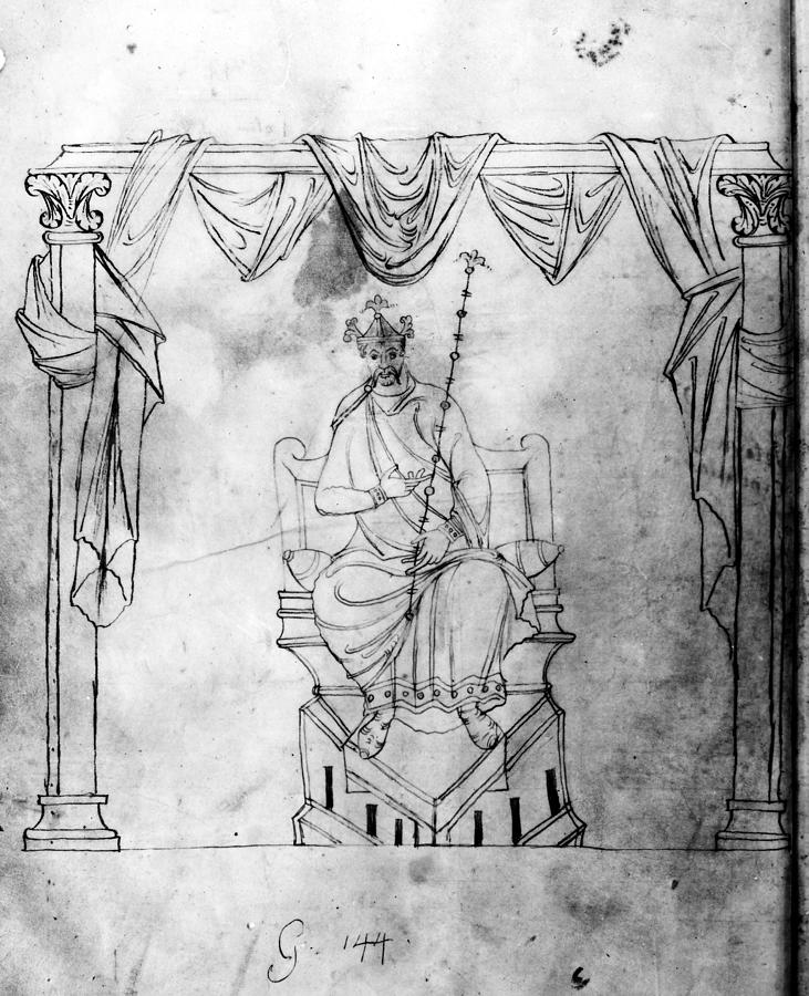 10th Century Drawing - Charlemagne (742-814) by Granger