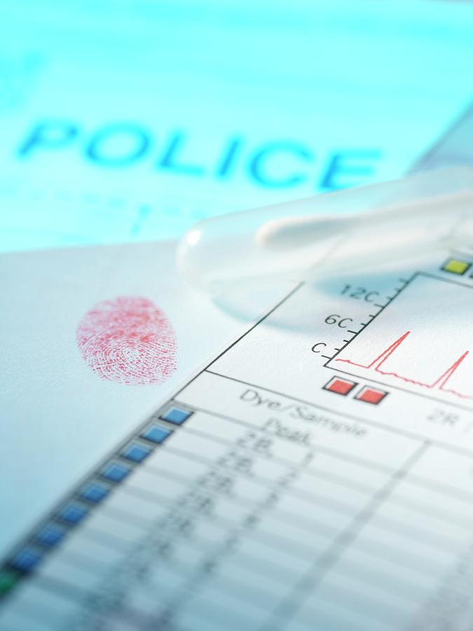 Dna Photograph - Forensic Evidence by Tek Image