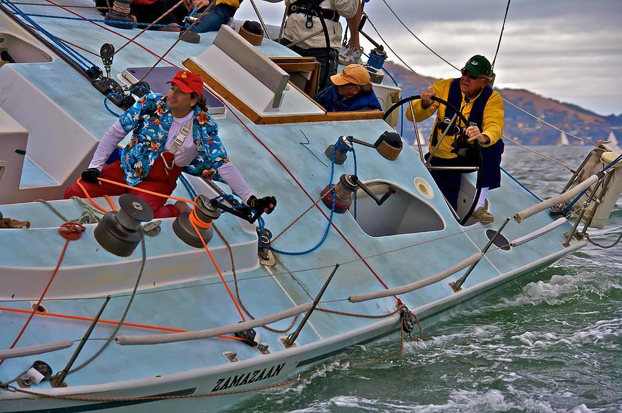 San Francisco Photograph - San Francisco Sailing by Steven Lapkin