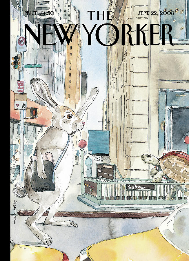 The Race Is On Painting by Barry Blitt