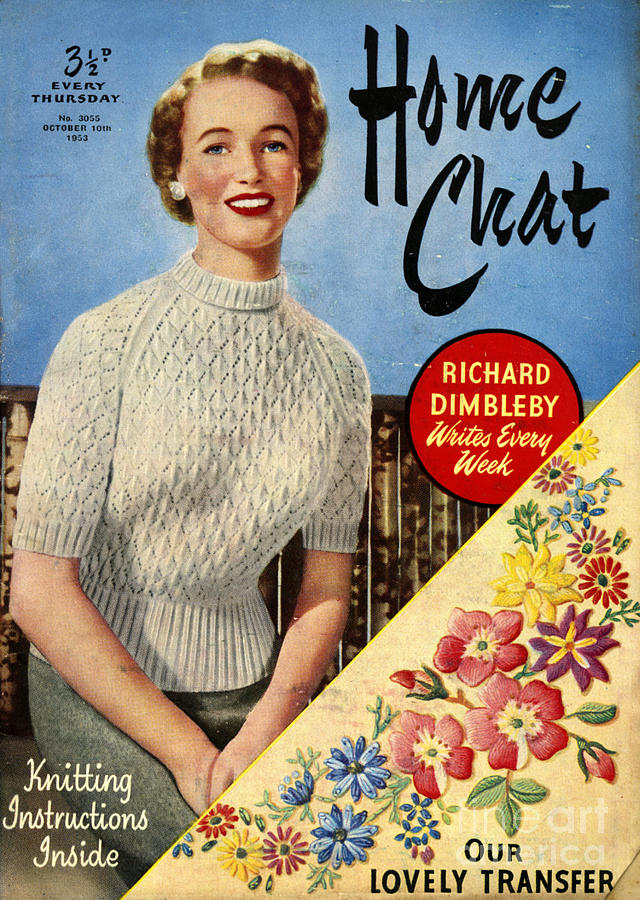 Jumpers Drawing - 1950s Uk Home Chat Magazine Cover by The Advertising Archives