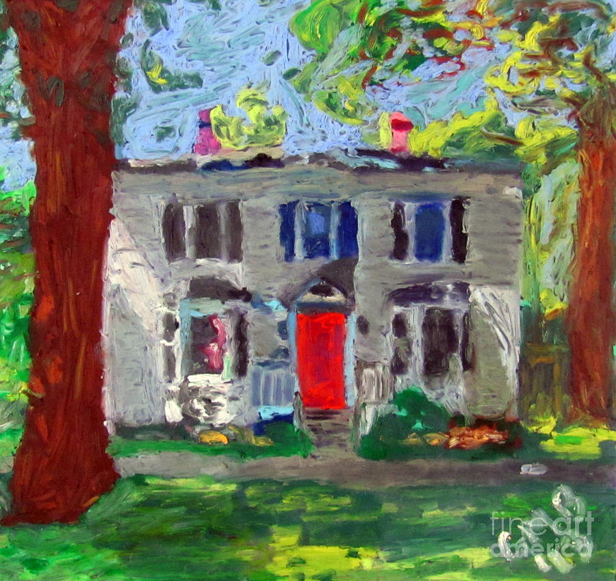 Bar Harbor Painting - 22 Atlantic Ave by Greg Mason Burns