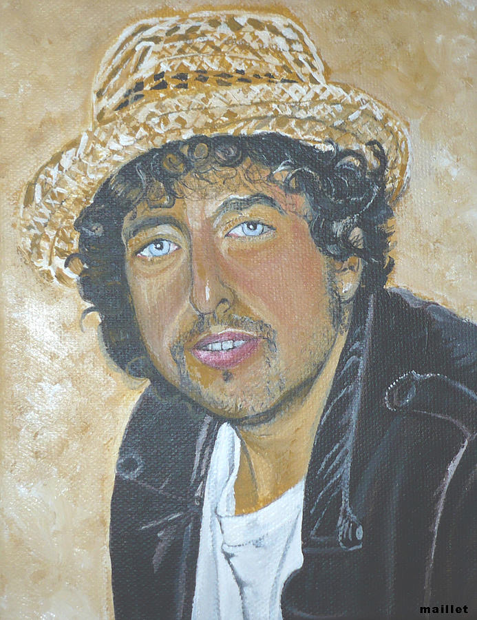 Bob Dylan. Painting - Bob Dylan by Laurette Maillet
