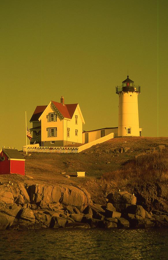 Cape Neddick Light Photograph - Cape Neddick Light by Herbert Gatewood