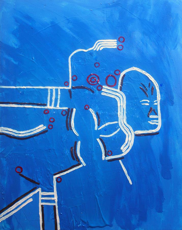 Jesus Painting - Dinka Lady - South Sudan by Gloria Ssali