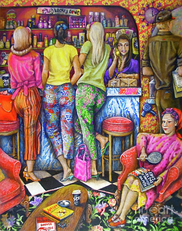 Ladies Painting - Shop Talk by Linda Simon