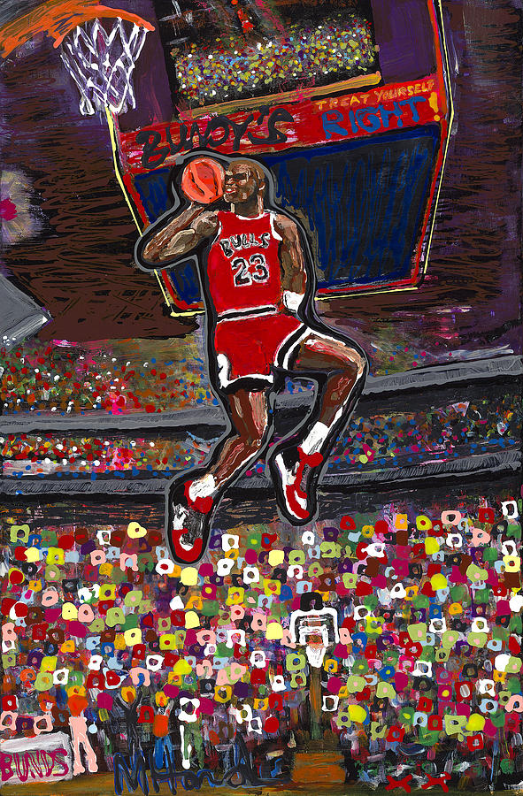 Michael Jordan Painting - 23 by Mike Harder