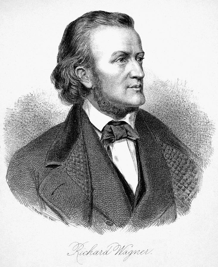 19th Century Painting - Richard Wagner (1813-1883) by Granger