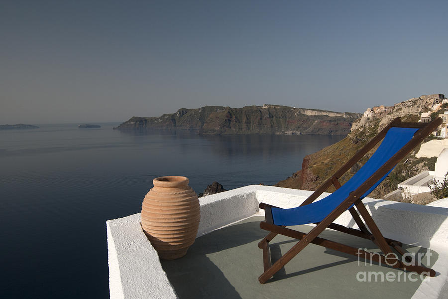 Aegean Photograph - Santorini by Borislav Stefanov
