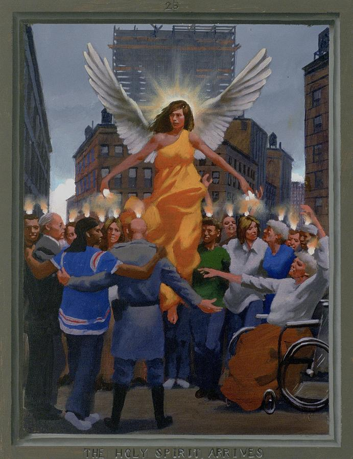 Jesus Painting - 23. The Holy Spirit Arrives / From The Passion Of Christ - A Gay Vision by Douglas Blanchard