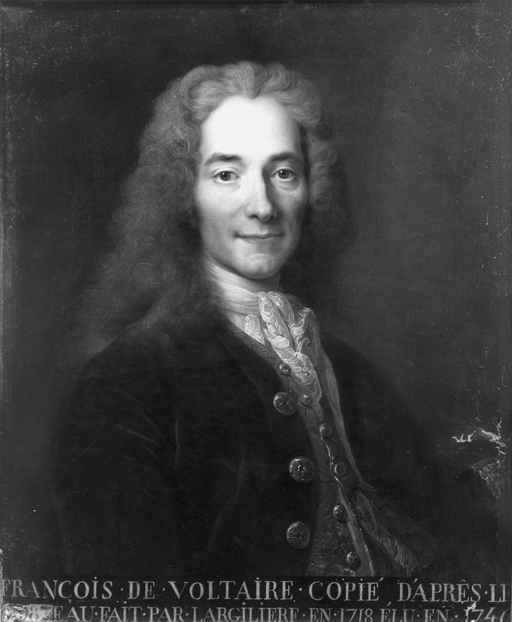 18th Century Painting - Voltaire (1694-1778) by Granger