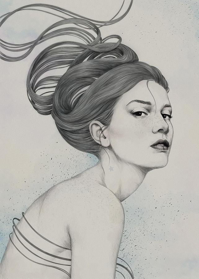 Woman Digital Art - 230 by Diego Fernandez
