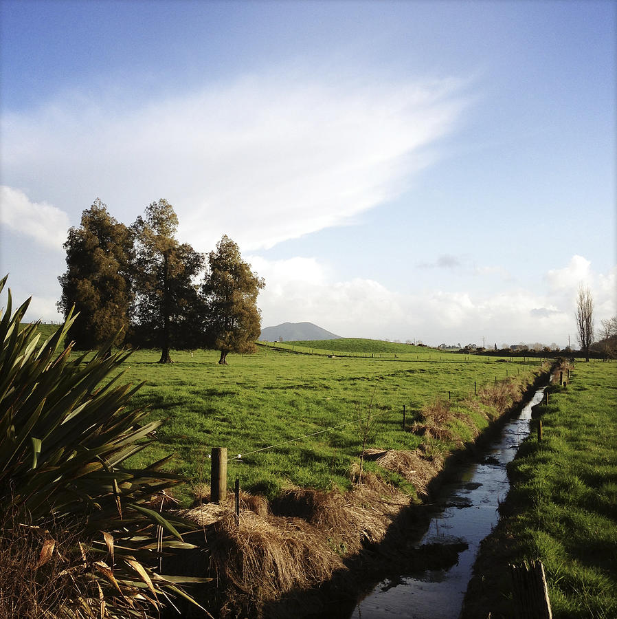 Drain Photograph - New Zealand by Les Cunliffe